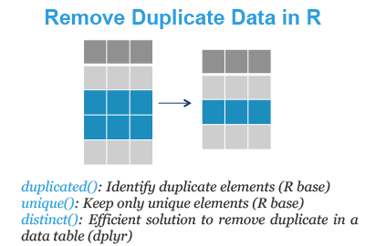 Identify and Remove Duplicate Data in R