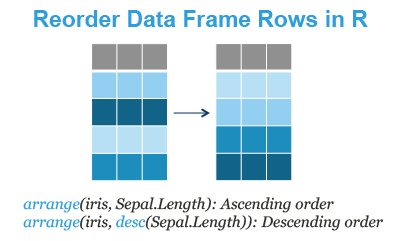 Reorder Data Frame Rows by Variables in R