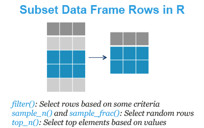 Subset Data Frame Rows in R - Datanovia