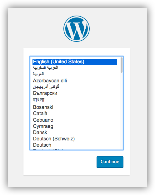 Configuring wordpress