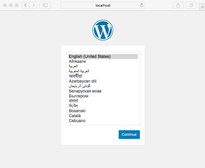 Sélectionnez la langue de WordPress