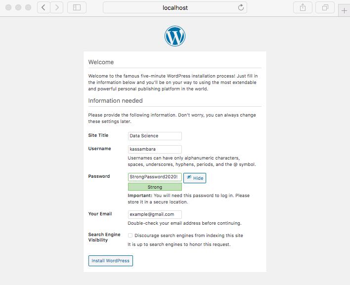 Create an administrative user