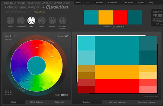 concepteur d'agencement de couleurs