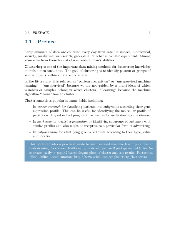 clustering pdf pages